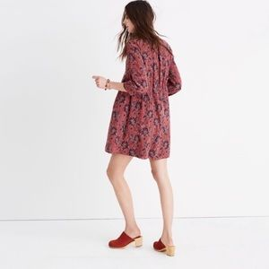 Madewell Patterned Tie Front Dress XXS
